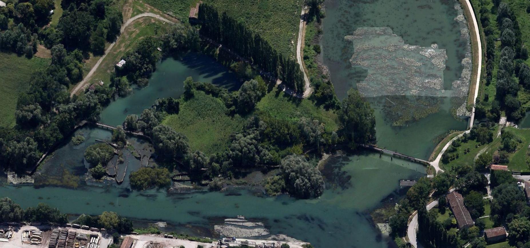 Una vista aerea del cimitero dei Burci