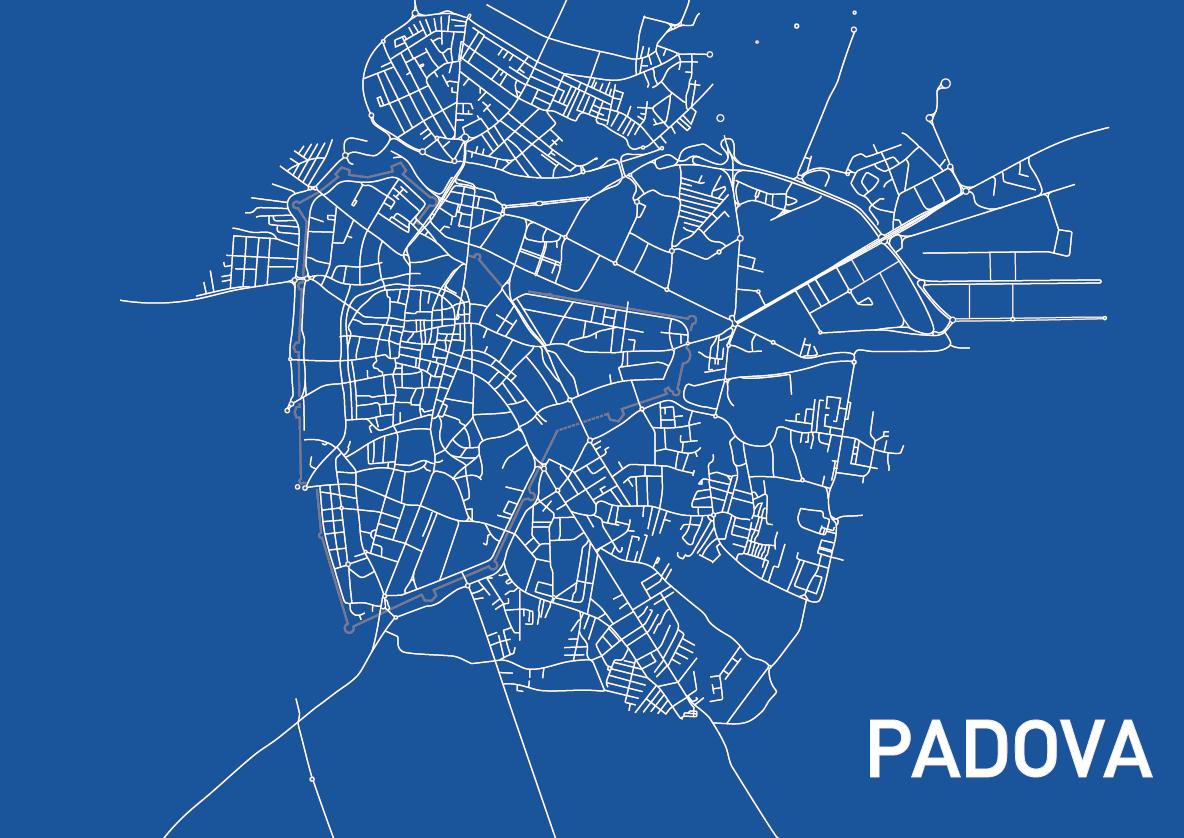 Mappa ciclabile di Padova, work in progress