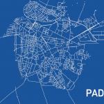La mappa ciclabile di Padova