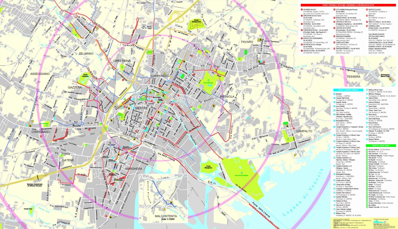 Cartina Venezia Mestre.Mestre Mappa Ufficiale Delle Ciclabili Veneto Ciclabile